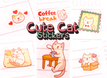 Cute Cat Stickers #1 | Kawaii Cats | 6 Sheets