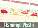 Flamingo Washi Tape #4 | Cute Masking Tape | Flamingos