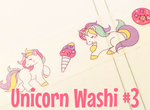 Unicorn Washi Tape #3 | Kawaii Unicorns | Cute Masking Tape