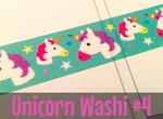 Unicorn Washi Tape #4 | Kawaii Unicorns | Cute Masking Tape