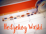 Hedgehog Washi Tape | The Little Hedgehog In The Forest | Grew Up In Time | Autumn/Fall