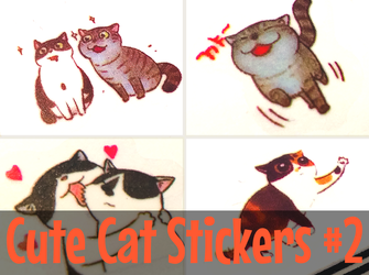 Cute Cat Stickers #2