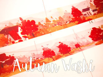 Autumn Washi Tape | Mikimood Fall Masking Tape | Beautiful Landscape