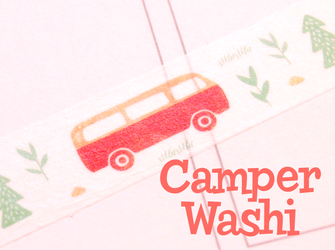 Camper Van Washi Tape | Cute VW Van | Camping Masking Tape