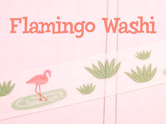 Flamingo Washi Tape #3 | Cute Masking Tape | Flamingos