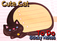 Cute Cat Sticky Notes | To Do List | Mini Kawaii Memo