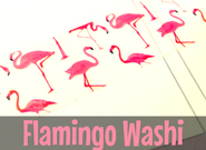 Flamingo Washi Tape #5 | Cute Masking tape | Flamingos