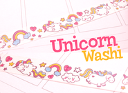 Unicorn Washi Tape | Unicorns and Rainbows | Cute Kawaii Masking Tape